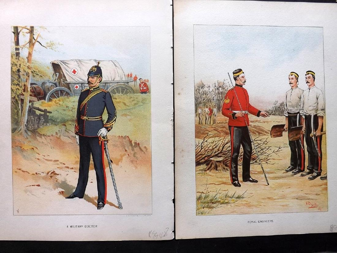 Richards, Walter 1890 Group of 5 Military Prints - 2