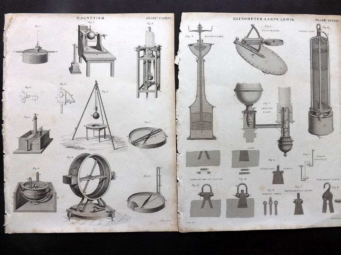 Science & Tech C1790-1875 Lot of 13 Prints - 2