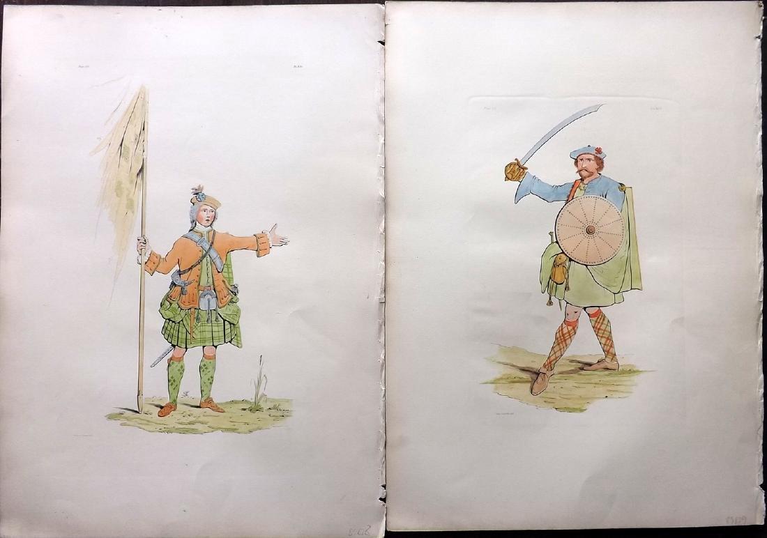 Stuart 1892 Pair Large Scottish Costume Prints 12 & 19