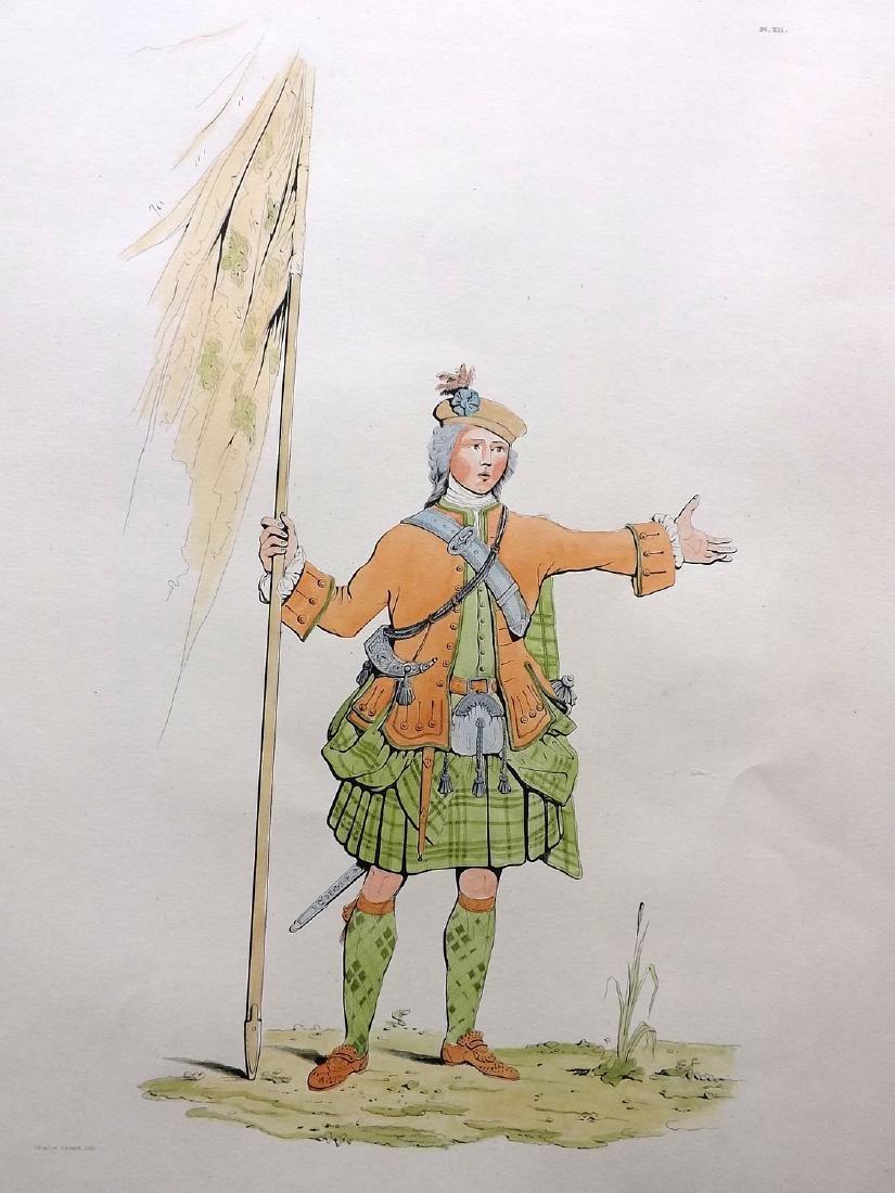 Stuart 1892 Pair Large Scottish Costume Prints 12 & 19 - 2
