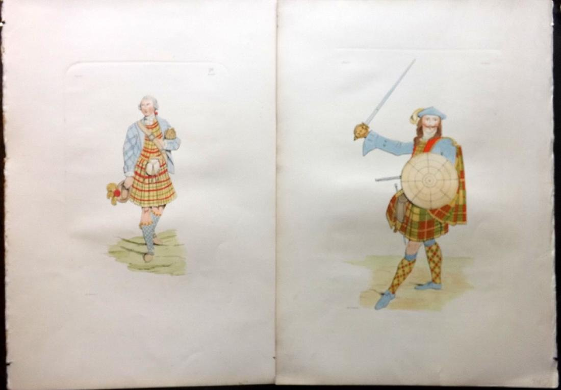 Stuart 1892 Pair Large Scottish Costume Prints 17 & 29