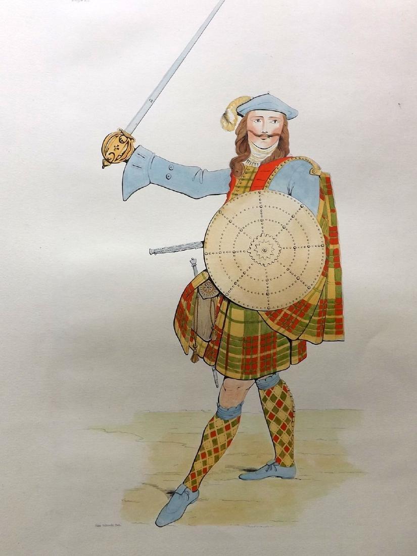 Stuart 1892 Pair Large Scottish Costume Prints 17 & 29 - 2