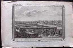 Miller, George 1782 Copper Engraving of Paris, France