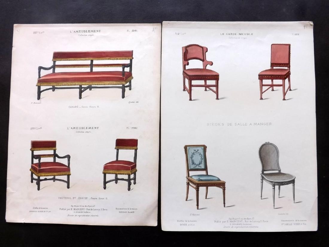 Le Magasin de Meubles C1870 Furniture Prints (4)