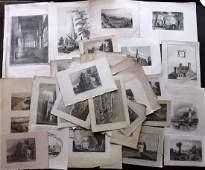 British Views C1780-1880 Century Lot of 85 Engravings