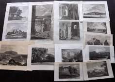 British Views C1780-C1875 Lot of 12 Engravings