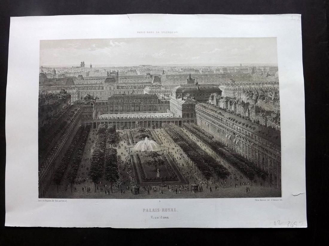 Paris dans sa Splendeur 1863 Large Print. Palais Royal