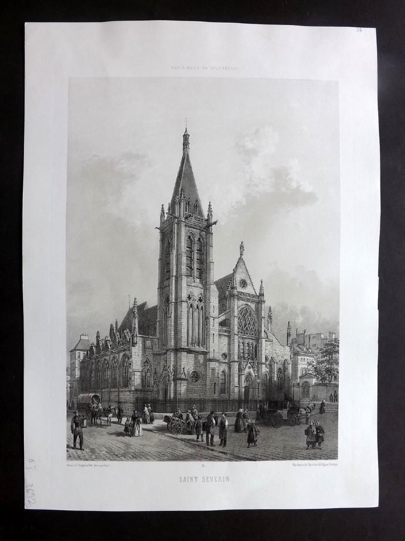 Paris dans sa Splendeur 1863 Large Print. Saint Severin