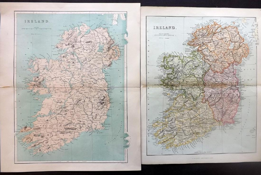 Ireland 1802-C1880 Lot of 7 Antique Maps - 2