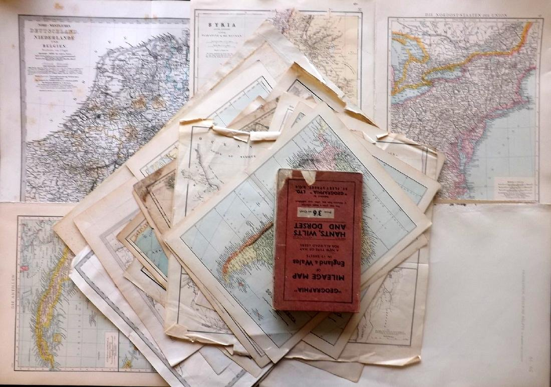 Maps 18th-19th Century. Mixed Lot of 23