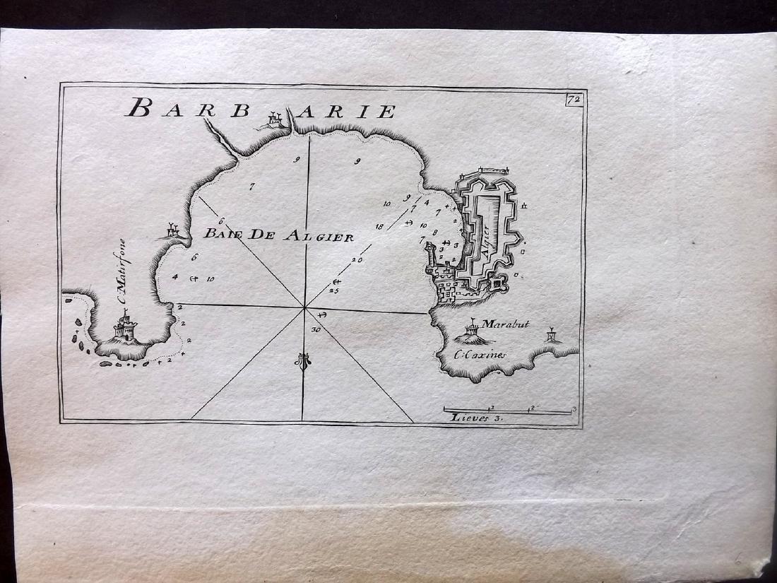 Roux, Joseph C1790 Antique Map of Algiers, Algeria