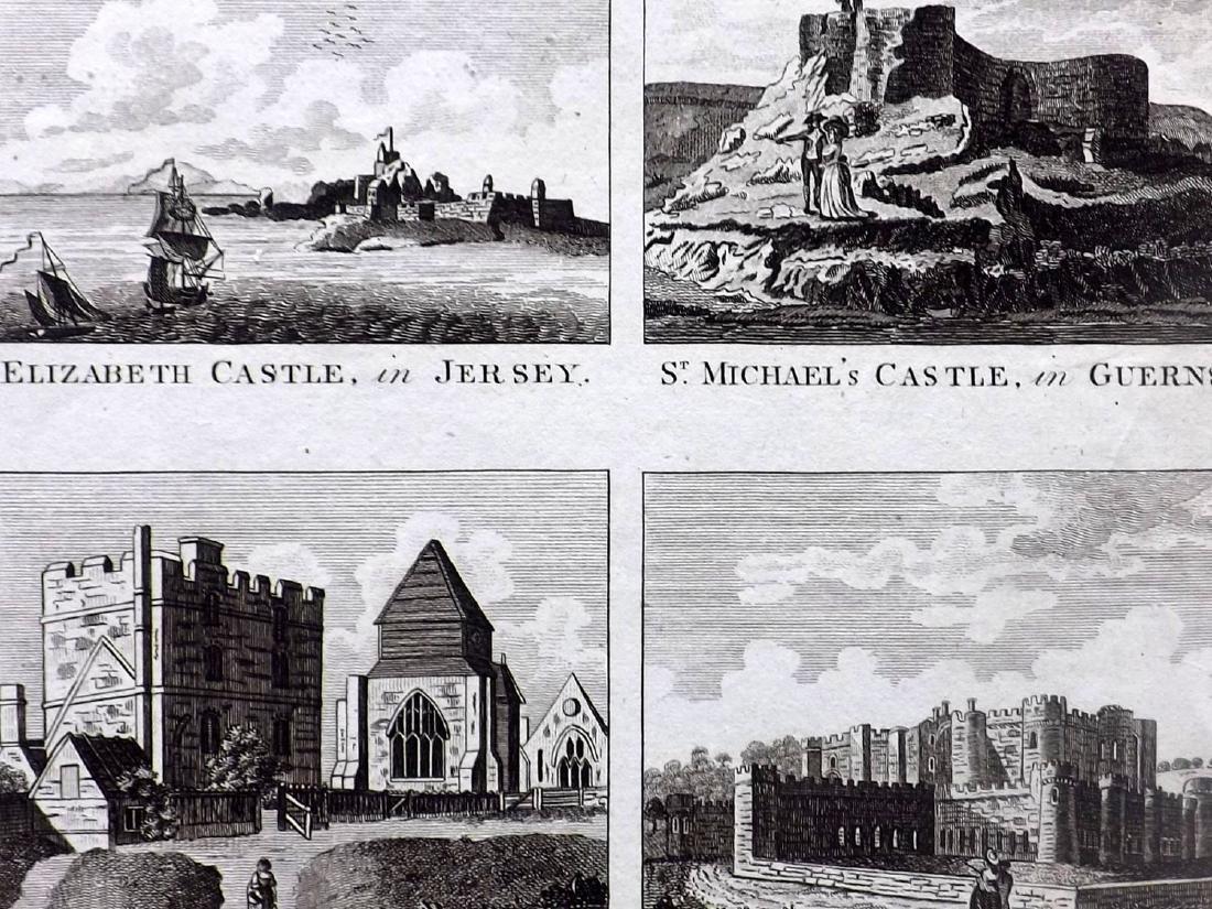 British Views 18th-19th Century Lot of 12 Prints