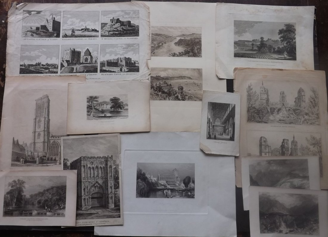 British Views 18th-19th Century Lot of 12 Prints - 2