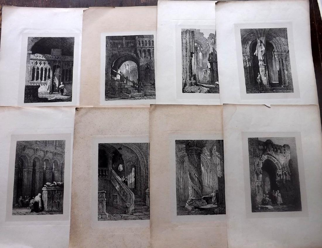 Continental Views C1840 Lot of 12 Lithographs
