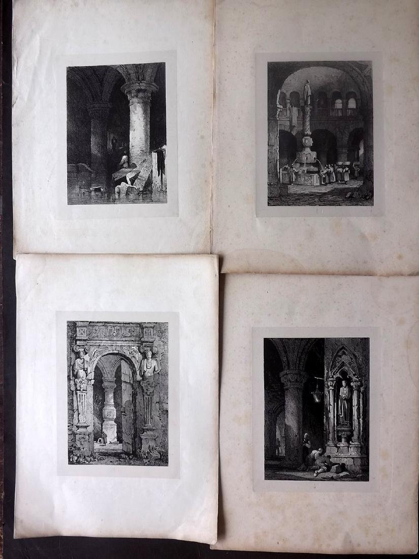 Continental Views C1840 Lot of 12 Lithographs - 2