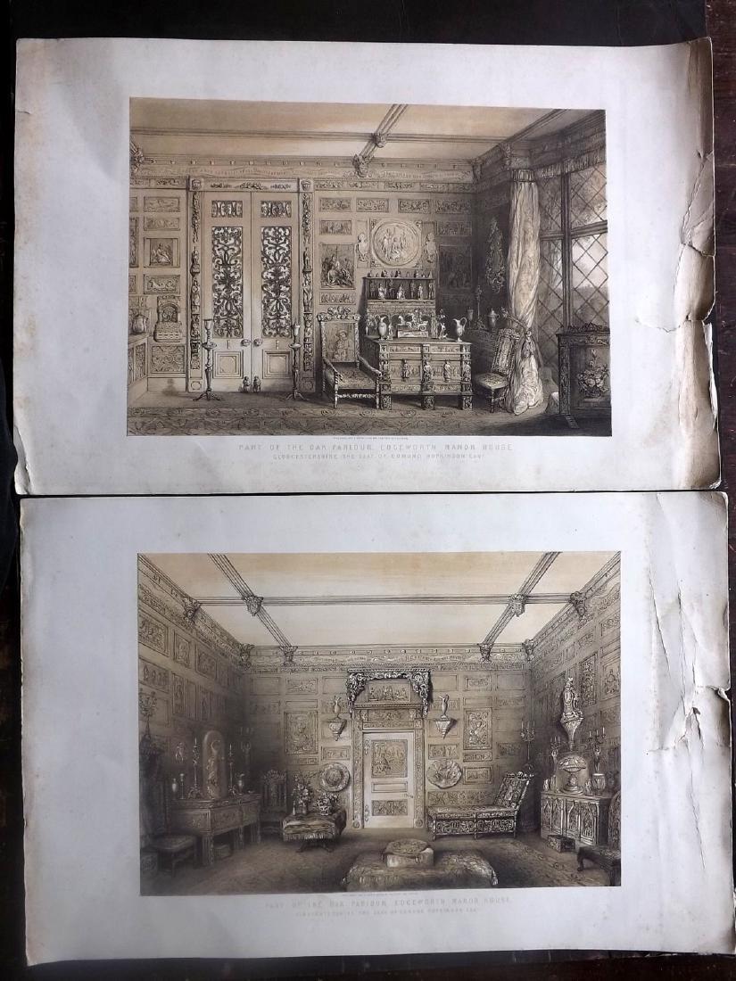 Gauci, Paul C1850 Pair of Prints. Edgeworth Gloucester