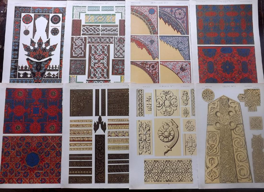 Jones, Owen 1910 Lot of 10 Architectural Design Prints