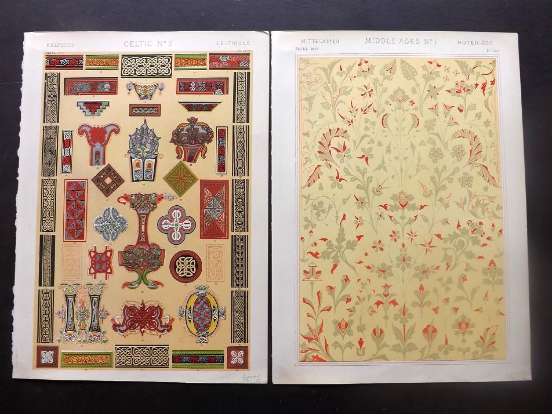 Jones, Owen 1910 Lot of 10 Architectural Design Prints - 2