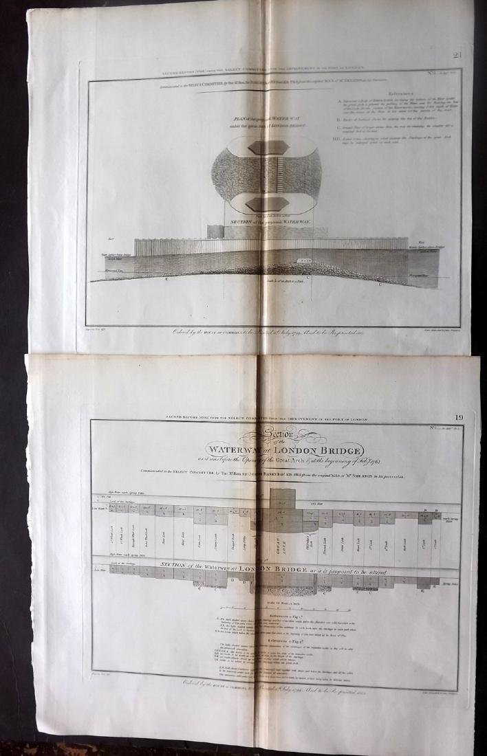 London 1803 LG Architecture Designs. Lot of 7 - 2