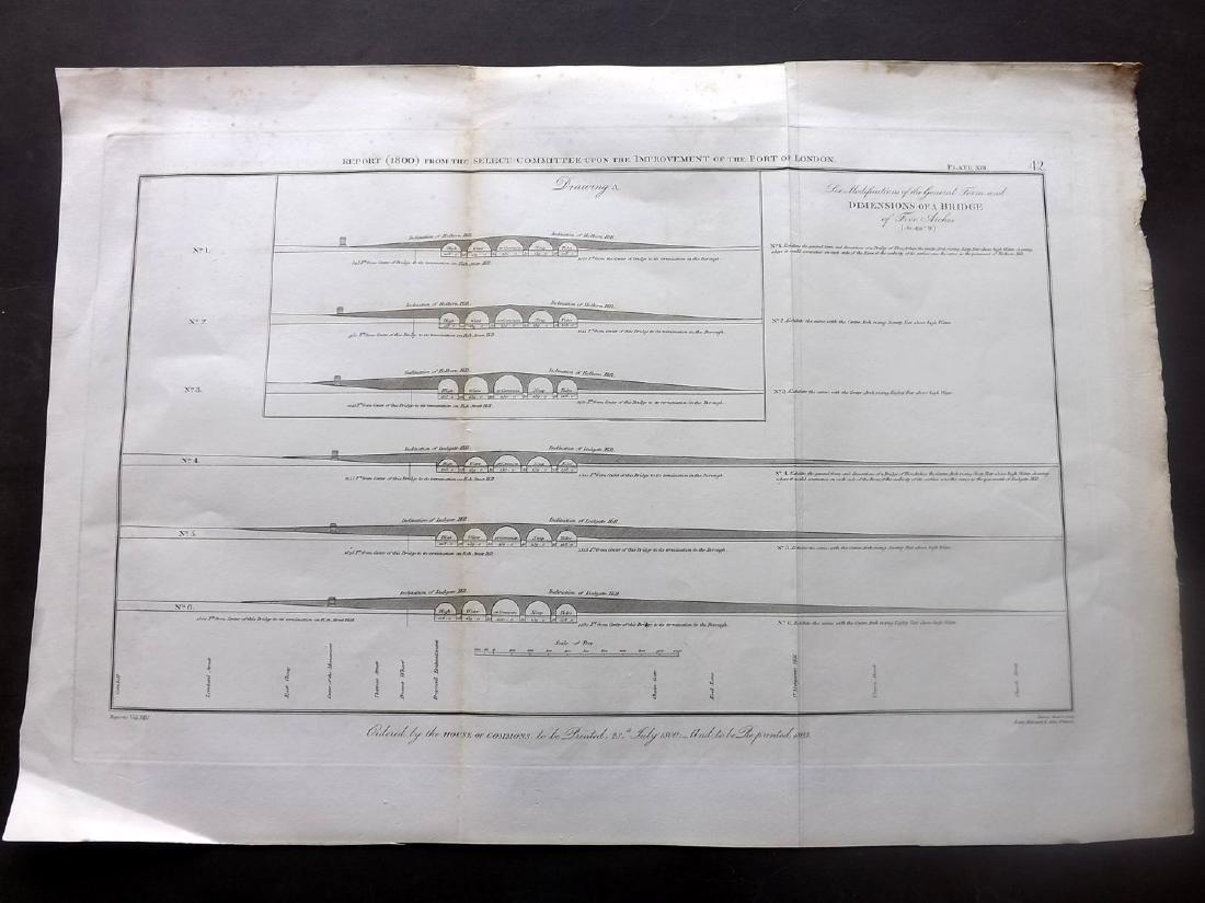 London 1803 LG Architecture Designs. Lot of 7 - 6