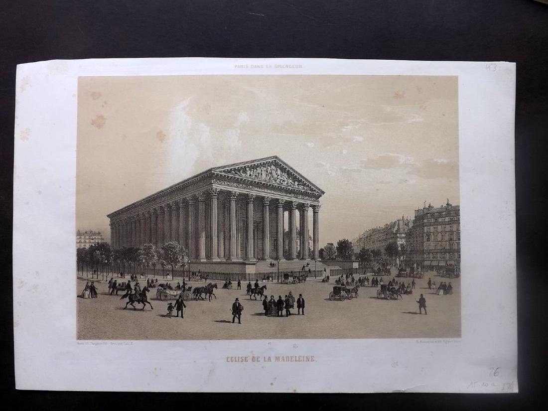 Paris dans sa Splendeur 1863 Eglise de la Madeleine