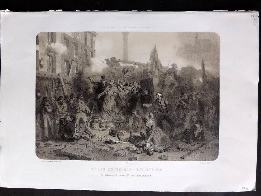 Paris dans sa Splendeur 1863 Large Print. Archeveque…