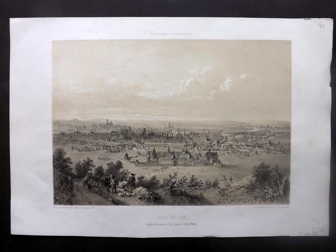 Paris dans sa Splendeur 1863 LG Print. Paris en 1620