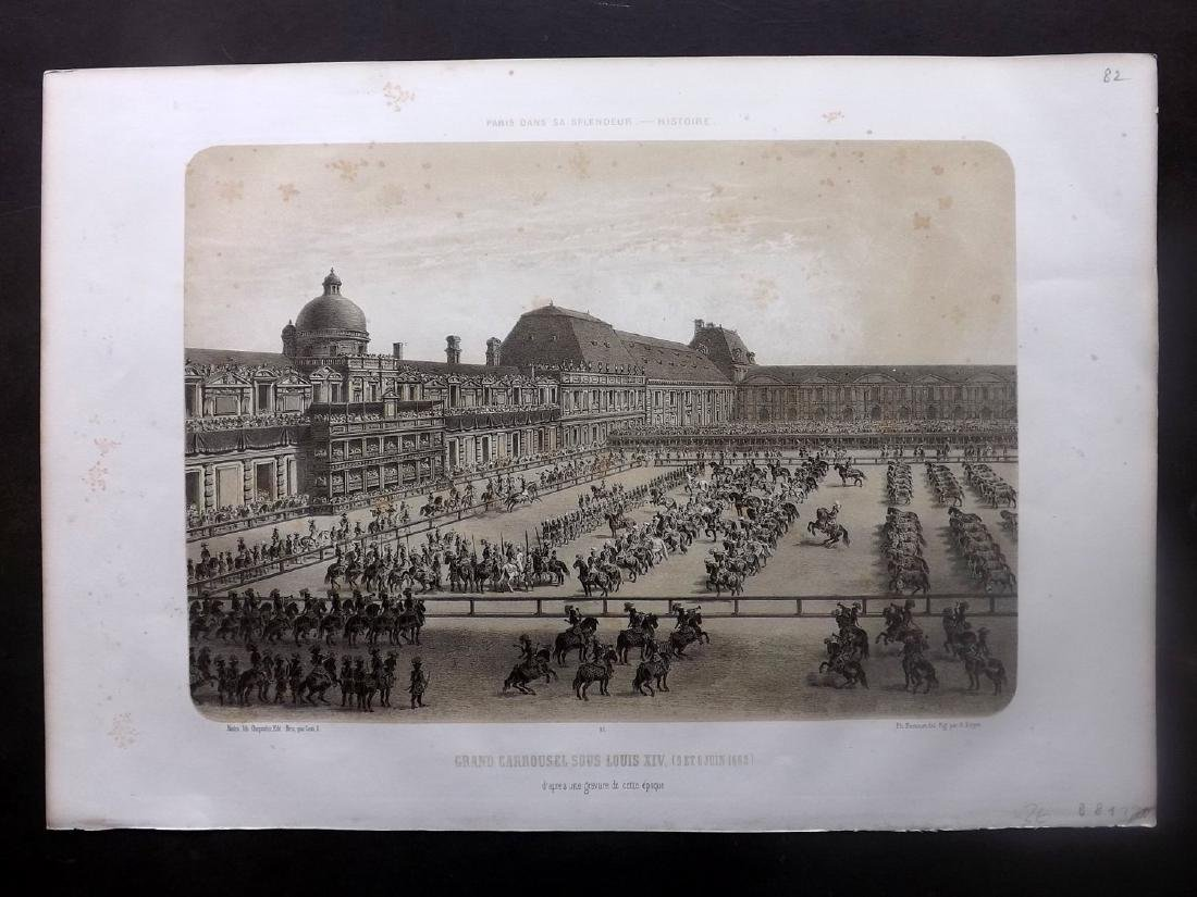 Paris dans sa Splendeur 1863 LG Print. Grand Carrousel
