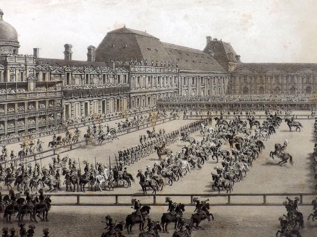 Paris dans sa Splendeur 1863 LG Print. Grand Carrousel - 2
