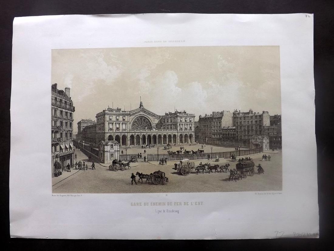 Paris dans sa Splendeur 1863 Gare du Chemin