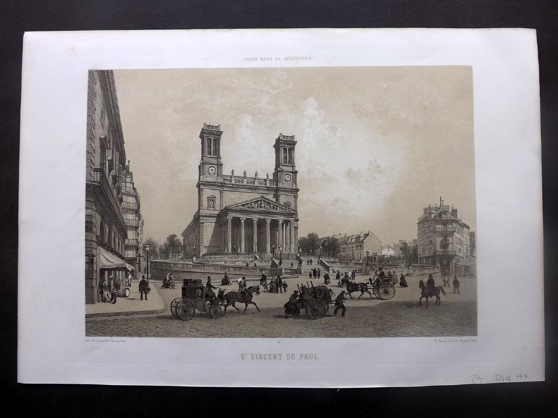 Paris dans sa Splendeur 1863 Print. St. Vincent de Paul