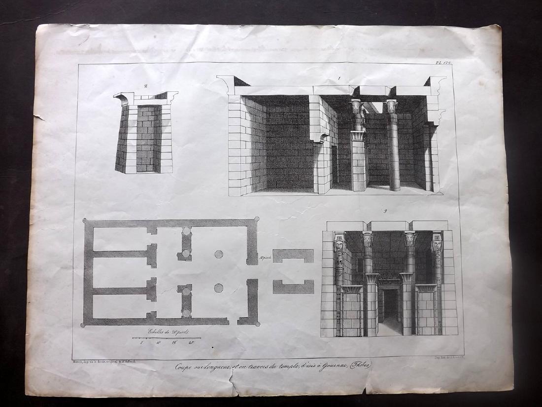 Rifaud, J. J. 1830 Pair of Large Prints of Egypt - 2