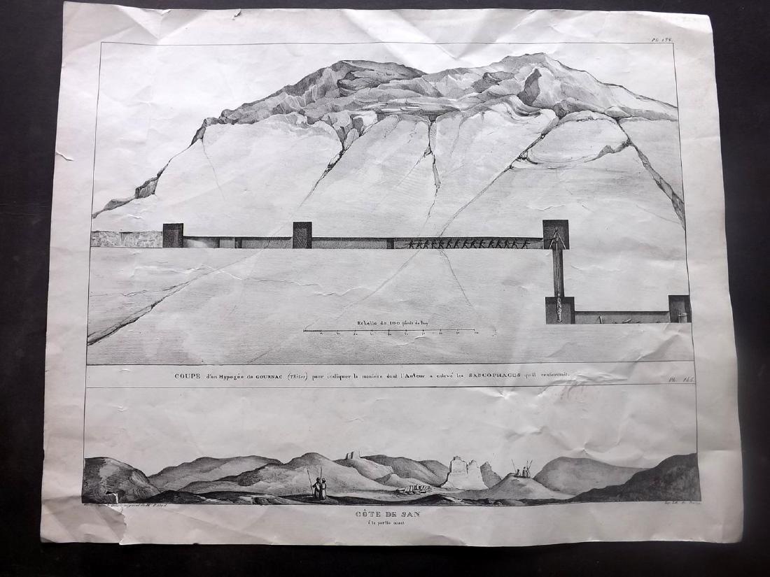 Rifaud, J. J. 1830 Pair of Large Prints of Egypt - 3