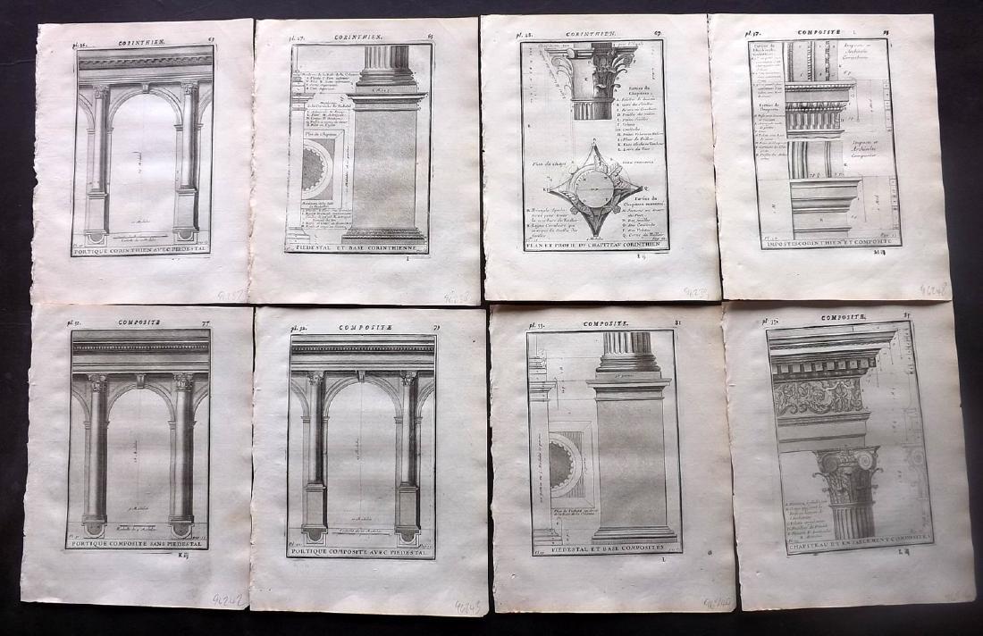 Vignola, Giacomo 1738 Lot of 8 Architectural Prints