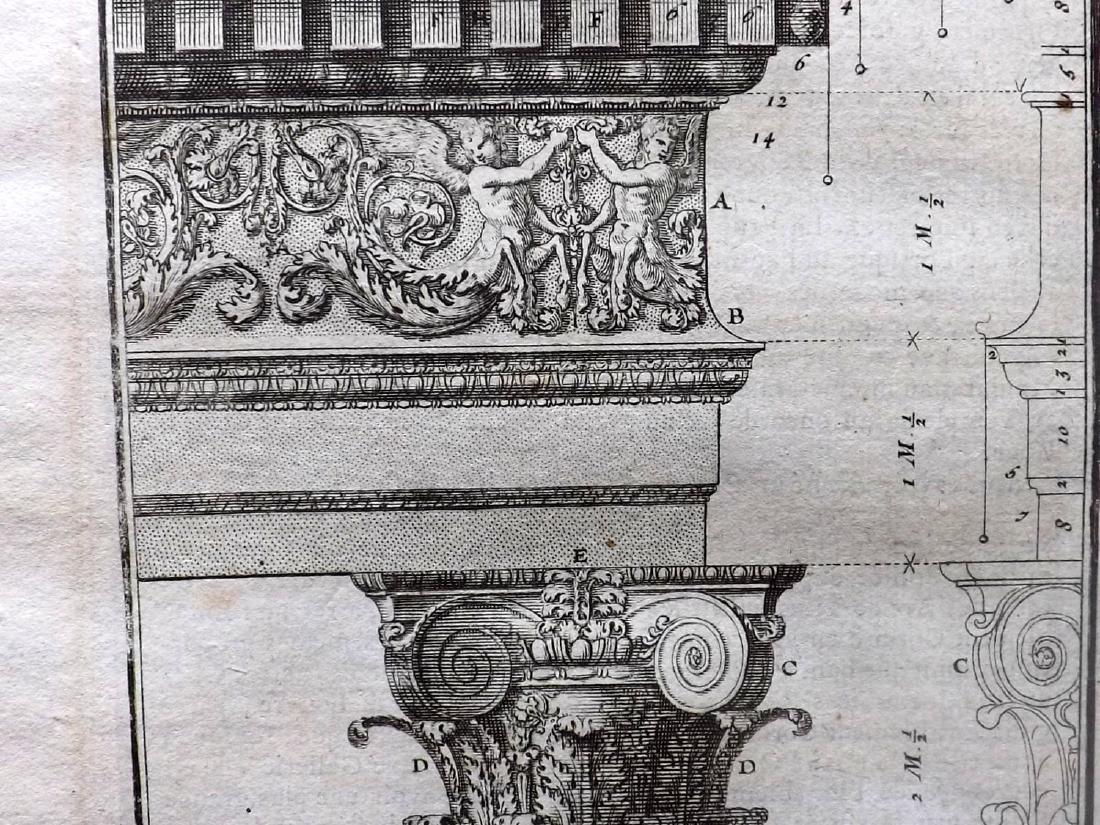 Vignola, Giacomo 1738 Lot of 8 Architectural Prints - 2