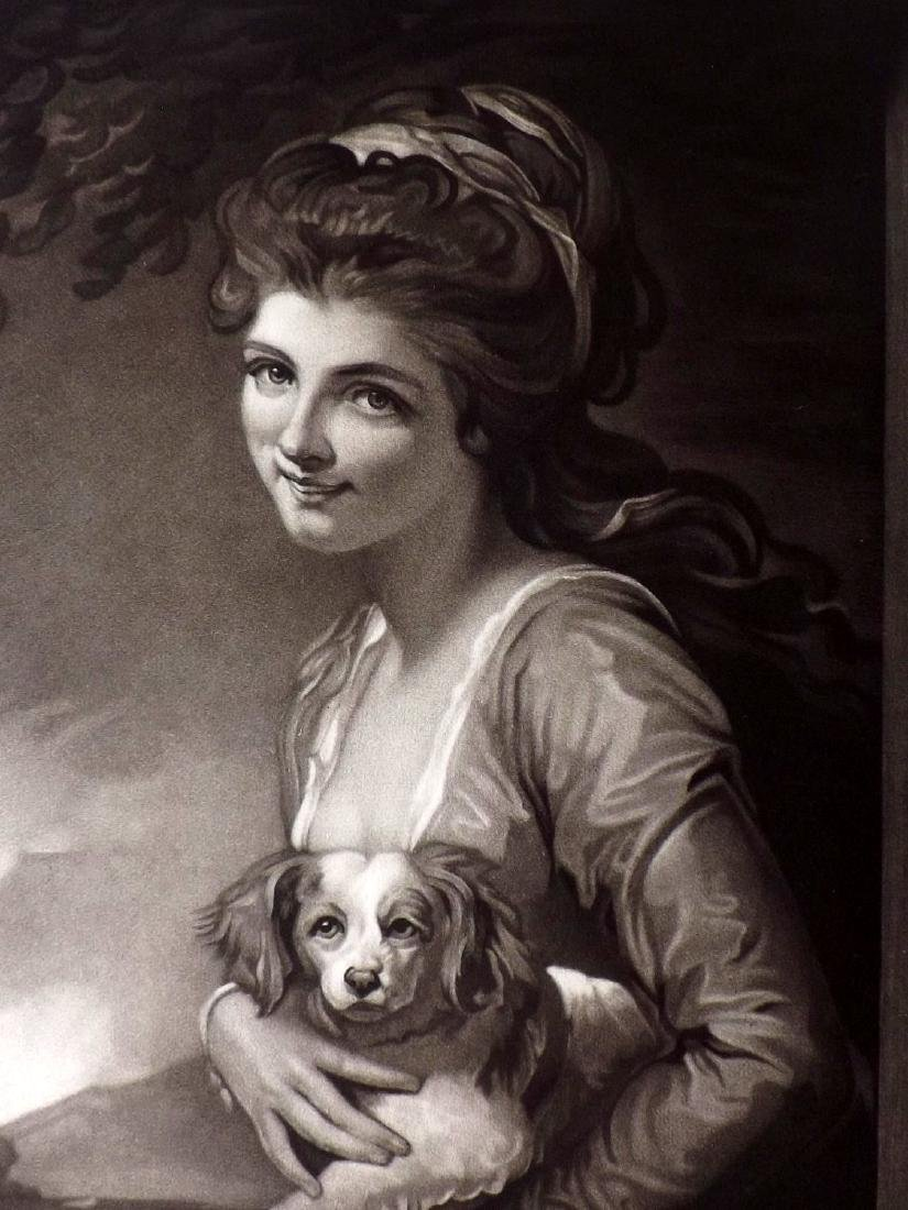 After George Romney C1900 Mezzotint. Nature Pretty Lady - 2