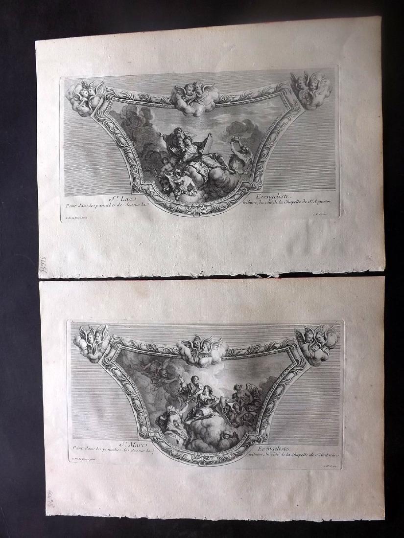 Granet, Jean 1736 Pair of Prints. Artwork Les Invalides