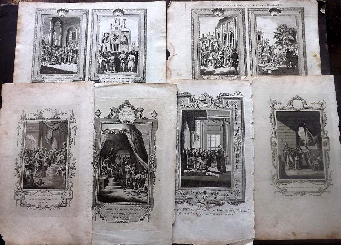 Historical 18th Century Lot of 10 Copper Plates