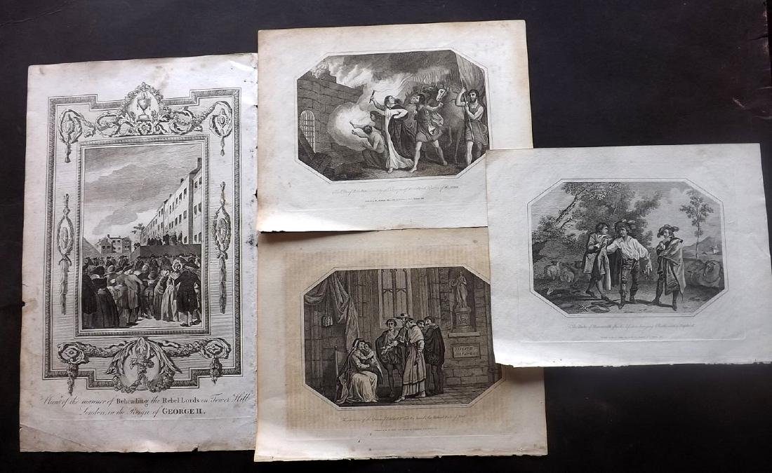 Historical 18th Century Lot of 10 Copper Plates - 2