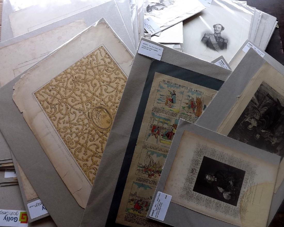 Mixed Mounted Prints 16th-19th Lot of 75