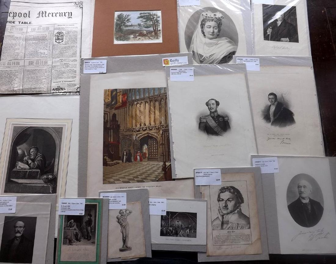 Mixed Mounted Prints 16th-19th Lot of 75 - 2