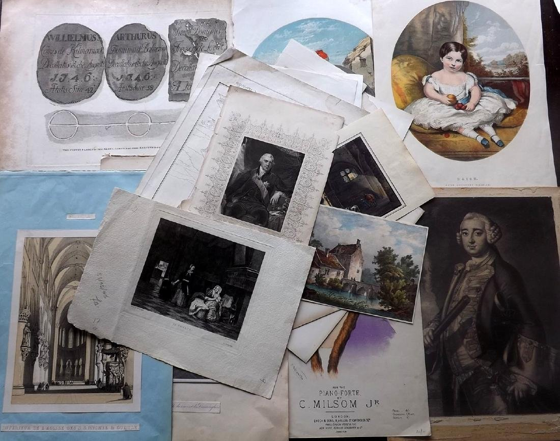 Mixed Prints 18th-19th Century Lot of 75