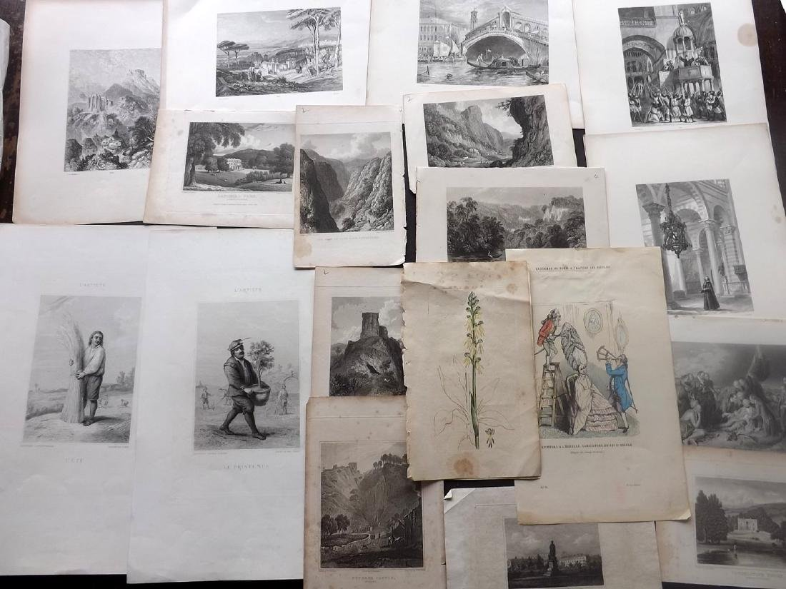 Mixed Prints 18th-19th Century Lot of 75 - 2