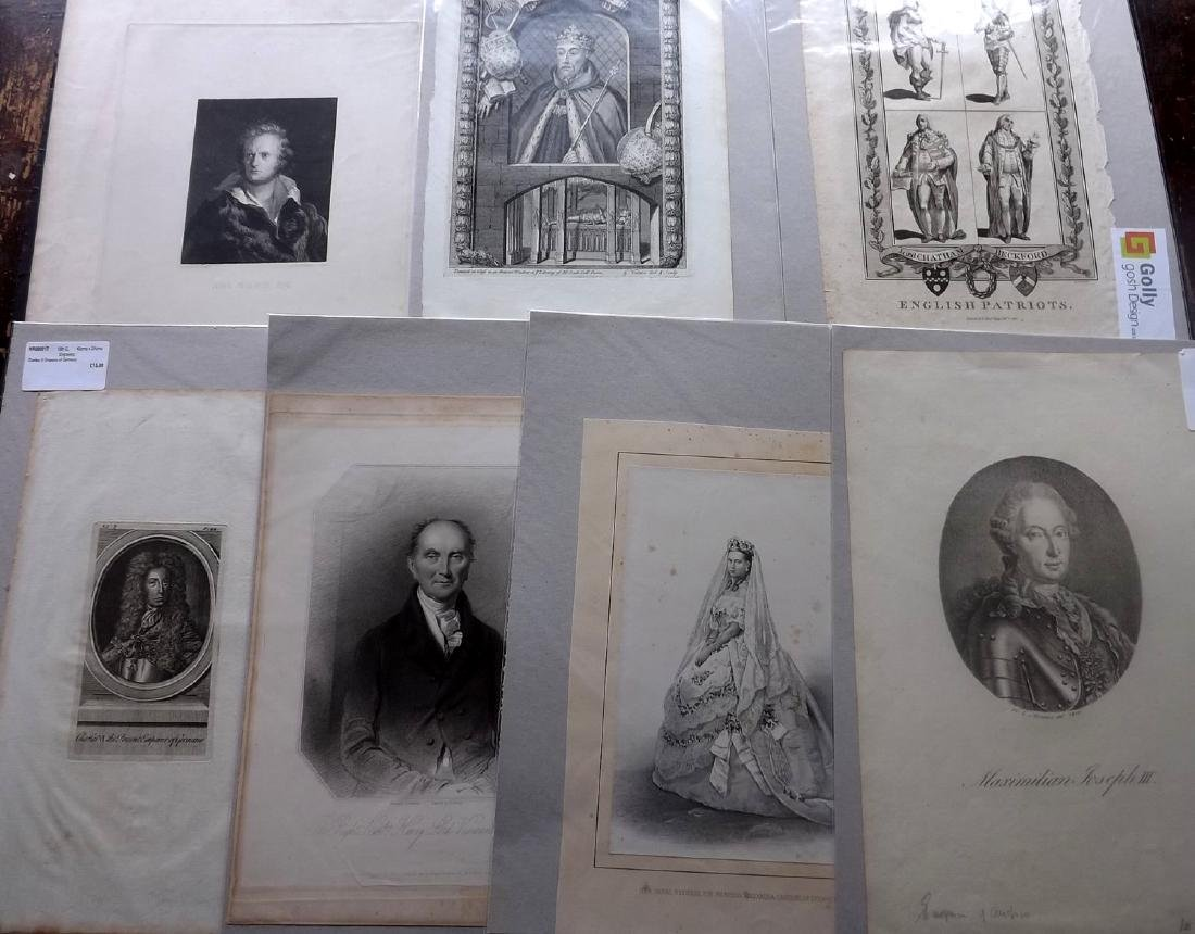 Portraits (Mounted) 16th-19th Century Lot of 38, Folio - 2