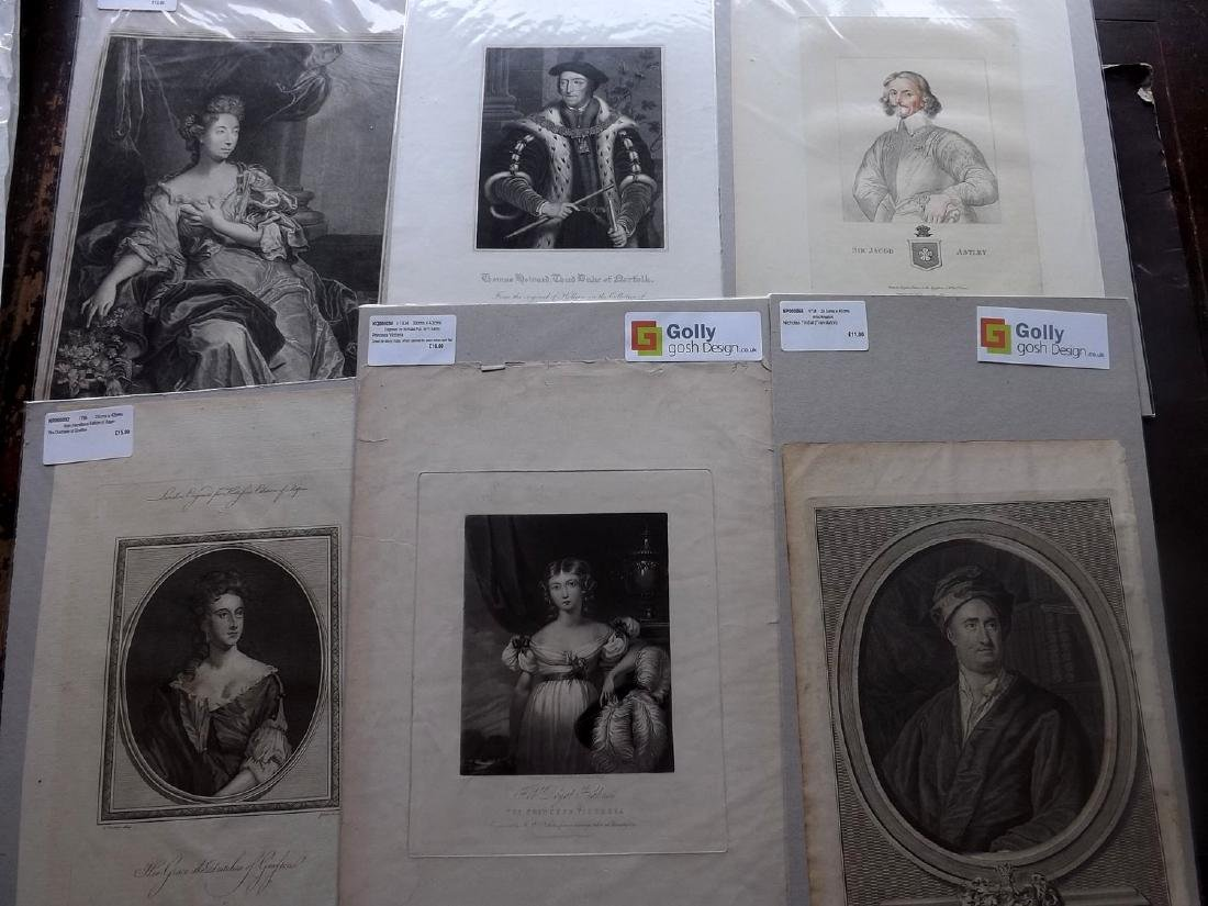 Portraits (Mounted) 16th-19th Century Lot of 38, Folio - 4