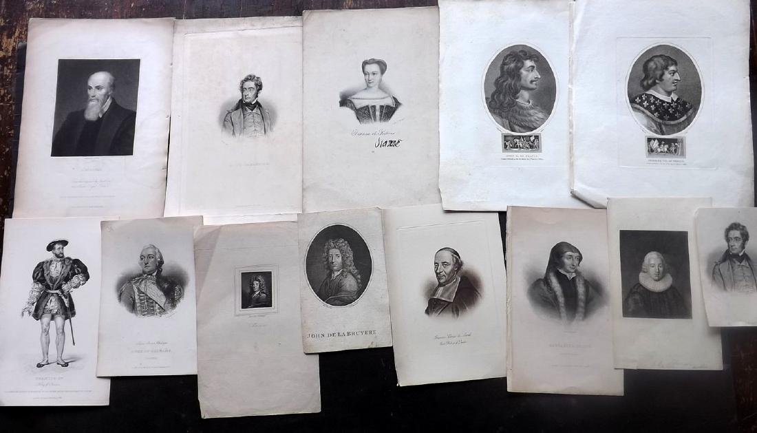 Portraits 18th-19th Century Lot of 14. French