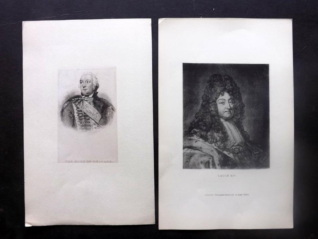 Portraits 18th-19th Century Lot of 14. French - 2