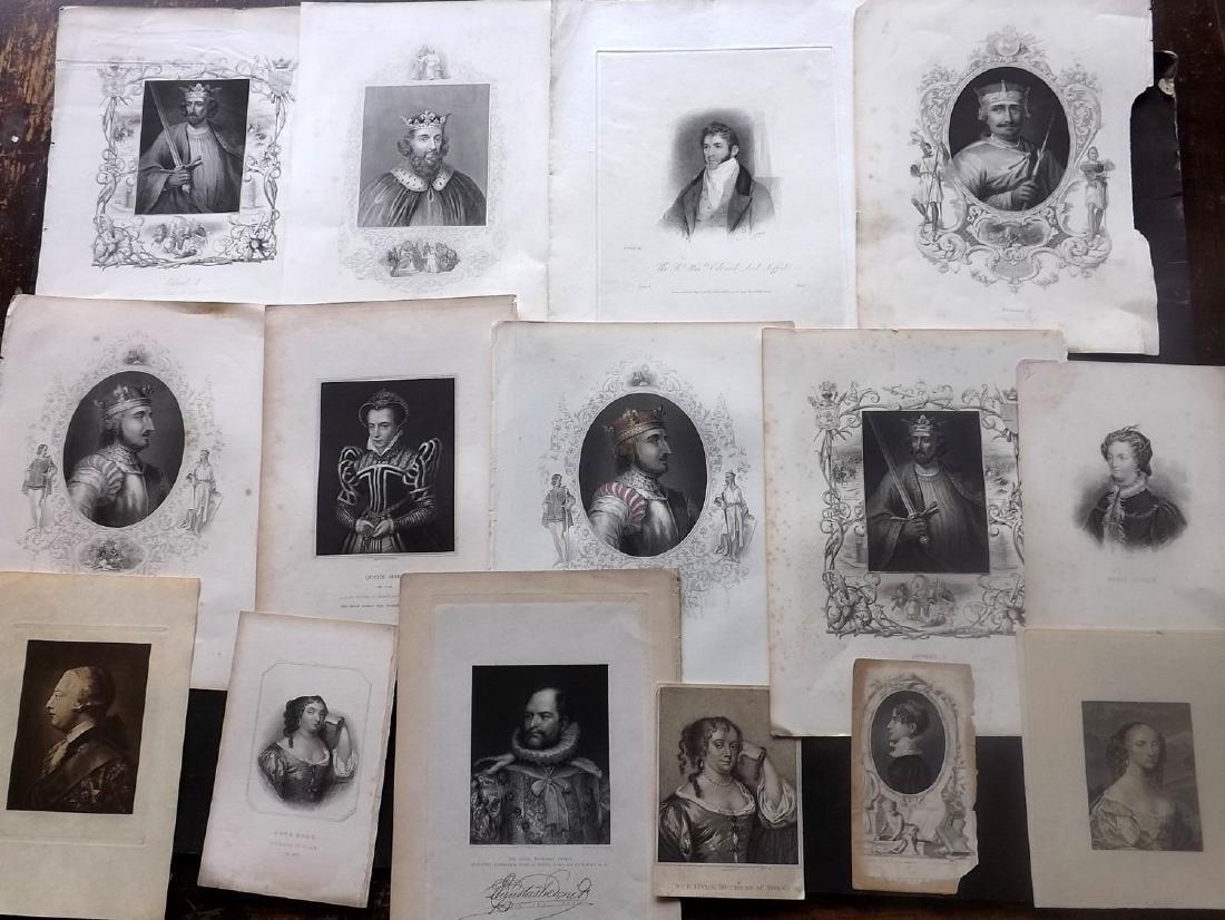 Portraits 18th-19th Century Lot of 18. British