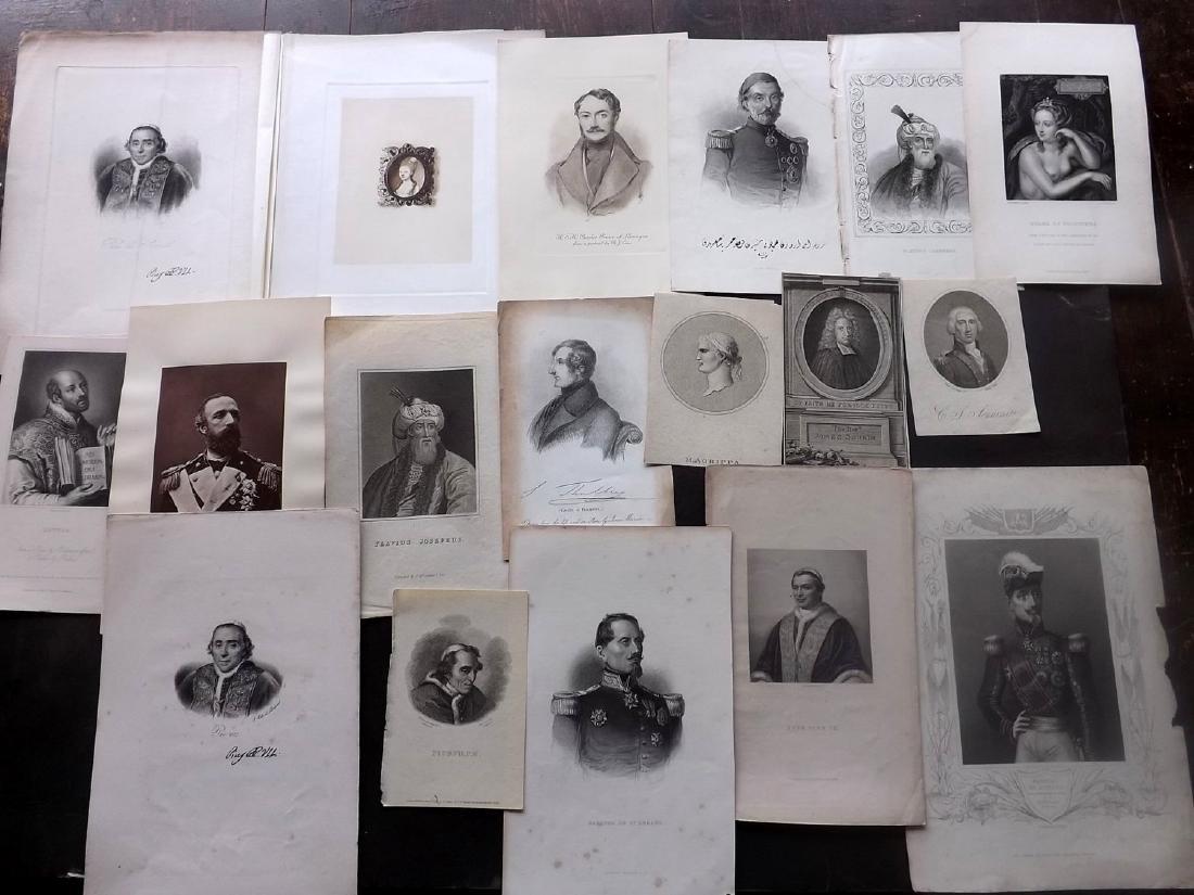 Portraits 18th-19th Century Lot of 18. European