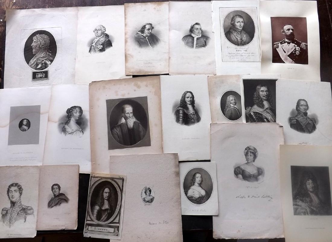 Portraits 18th-19th Century Lot of 26. European